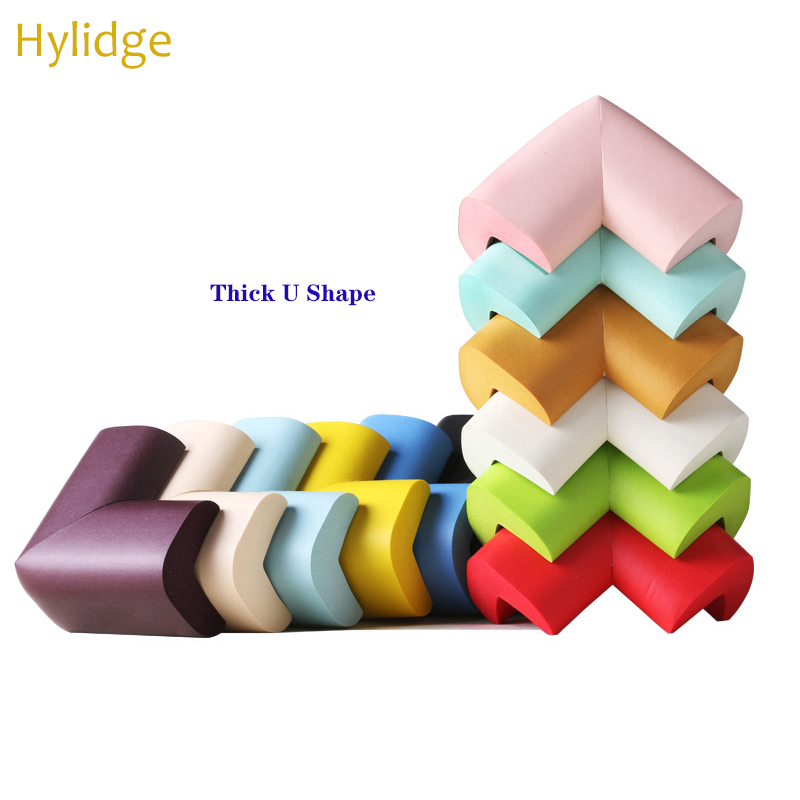 10PCS/Lot Thick U Shape Baby Safety Table Corner Protection Edge Corner Guards Table Corner Edge Protector With Free Tape