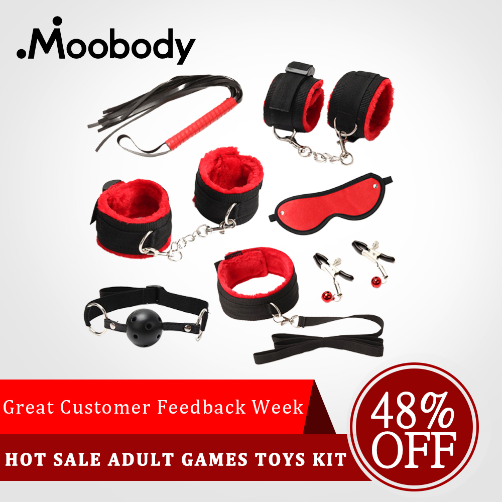 Muti-Types Fetish BDSM Bondage Sex Restraint Kit Games Erotic Accessories  Couples Lace Mask Collar Mouth Gag Handcuffs Sex Toys