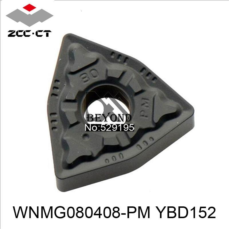 10pcs ZCC Original WNMG080408-PM YBD152 WNMG080408 WNMG 080408 Carbide Inserts резец токарный CNC Lathe Tools Cutter Turning