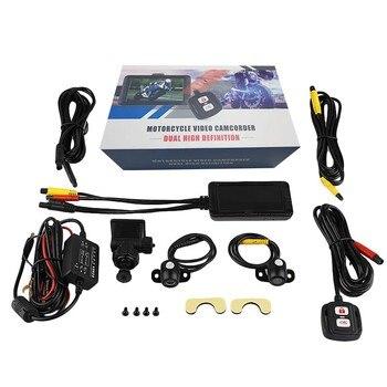 1080P двойной объектив DVR Dash Cam мотоциклетная камера безопасности Full HD фронтальная камера заднего вида DVR для автомобиля
