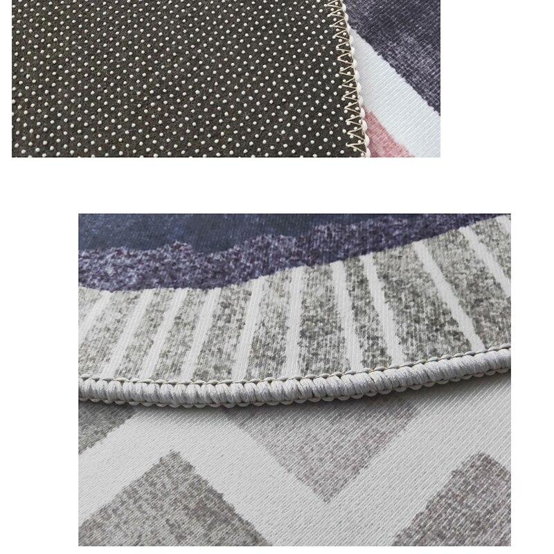 Современный абстрактный ковер для гостиной скандинавский круглый ковер нескользящий коврик для спальни коврик с геометрическим орнаментом защита пола для дома