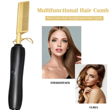 riwa electric hair comb smart thermostat lcd multifunction curling irons straight hair ptc heating do not hurt the hair 100 240v Tourmaline Ceramics Hair Straightener Straightening Irons Brush Hot Heating Comb Hair Straight Styler Corrugation Curling