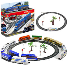Children's Toy Electric Train Set Railway RC Trains Model Kids Train Toys For Children Trains Rail Remote Control Railway Set