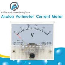 Panneau de compteur de courant de voltmètre analogique cc 5A 10A 30V 50V 85C1 panneau de jauge de pointeur