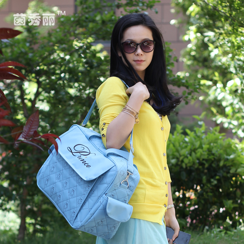 Multifunctional waterproof 600D diaper bag for mothers and babies waiting delivery in Europe America