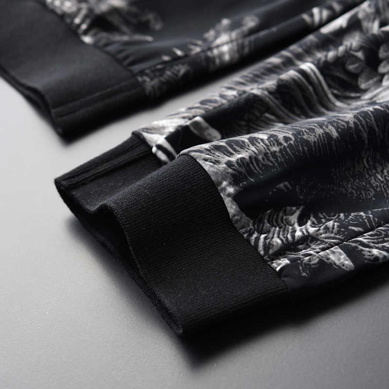 Gedrukt Man (T-shirts + Broek) plus Size 4xl Luxe Zomer Korte Mouw Mannen Met Broek Ronde Kraag Heren Sets