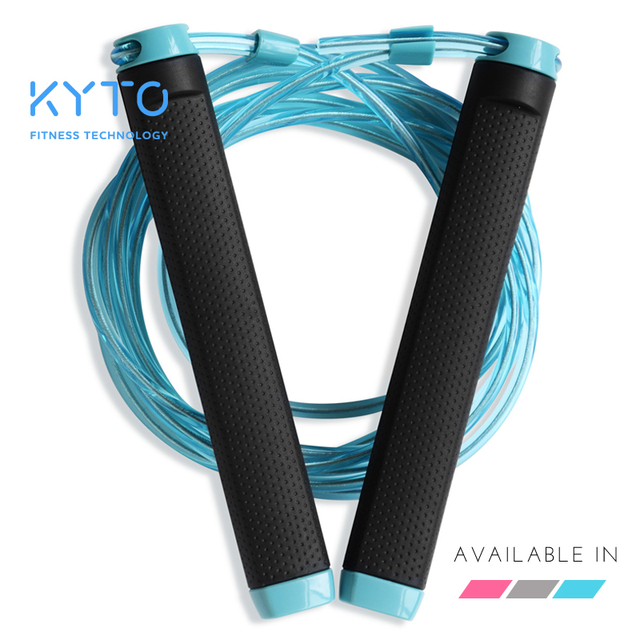 KYTO Jump Rope Crossfit Skipping Rope Adjustable 3M Training Cable With Bearing Steel Wire Loss Weight Speed Boxing, MMA