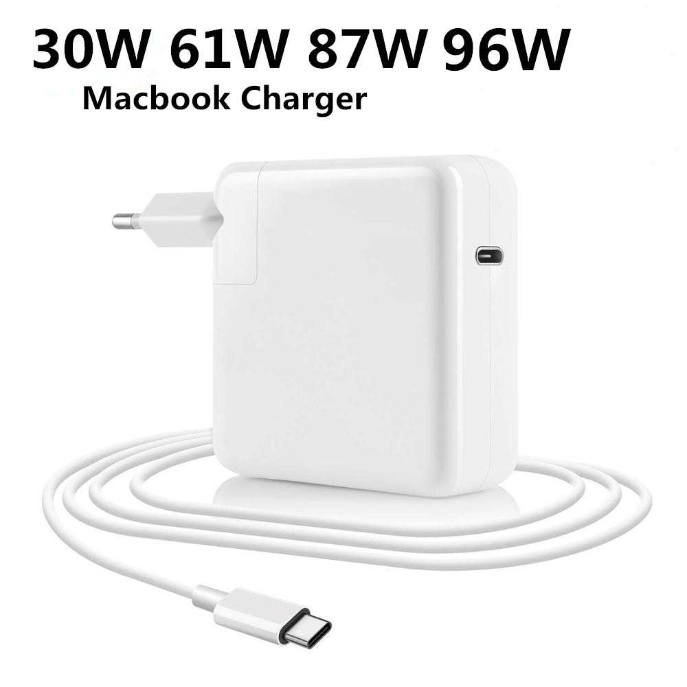 30W 61W 65W 87W 96W PD USB-C Notebook Laptops Power Adapter Type-C Fast Charger For Apple Macbook Iphone DELL HP Samsung Xiaomi