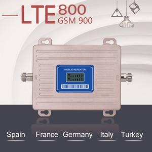Image 2 - 360 Độ Anten Khuếch Đại 4G LTE 800 2G GSM 900 Mhz Khuếch Đại Tín Hiệu B20 B8 Màn Hình Hiển Thị LCD 65 DB Gain 2G 3G 4G 800 900 Mhz Tăng Áp