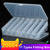 New 14 Compartments Fishing Tackle Box Bait Lure Hooks Storage Case Fishing Tool Tackle Sorting Box for Pesca