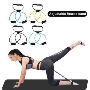 Fitness Booty Bands Set Resistance Bands for Butt Legs Muscle Training Adjust Waist Belt Elastic Bands Pedal Exerciser Workout(China)