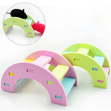 Cage-Accessories Hamster-Supplies Rainbow-Bridge Wooden Animals Small Pet-Toys Hanging