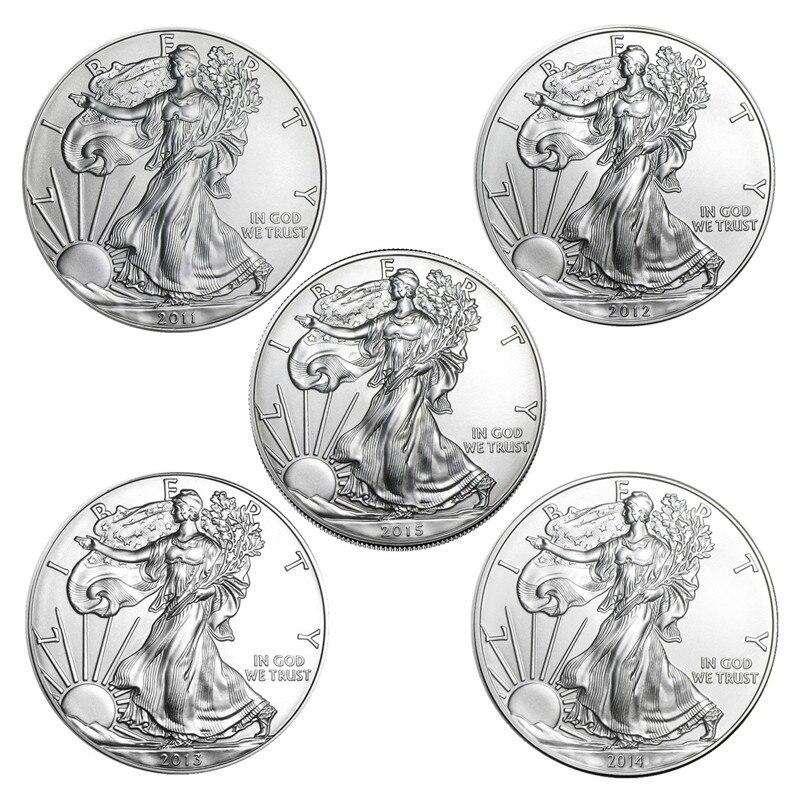 Новая Коллекционная Статуя Свободы 2011-2021, монета 1 унция из тонкого серебра, американские монеты, подарок на Новый год, отличная коллекция