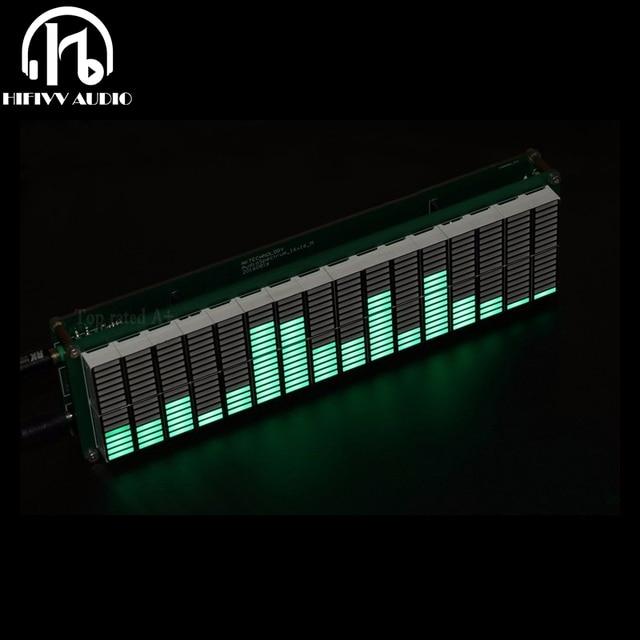Ebene LED Musik Audio Spektrum Anzeige 16 Ebene VU Meter Display Verstärker Bord Präzision Clock Einstellbare AGC Modus