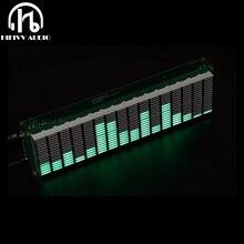 רמת LED מוסיקה אודיו ספקטרום מחוון 16 רמת VU מטר מסך תצוגת מגבר לוח דיוק שעון מתכוונן AGC מצב