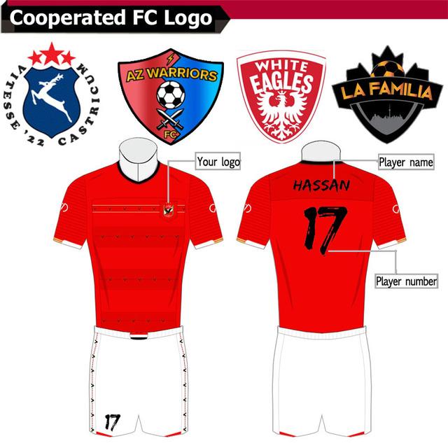 Russia buyer Customized Soccer Jerseys His Club Logo Football set