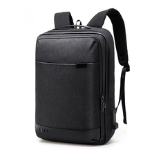 Simple Business Backpack Men's Travel Large Capacity 15.6-Inch Laptop Backpack Waterproof Lightweight Casual School Bag