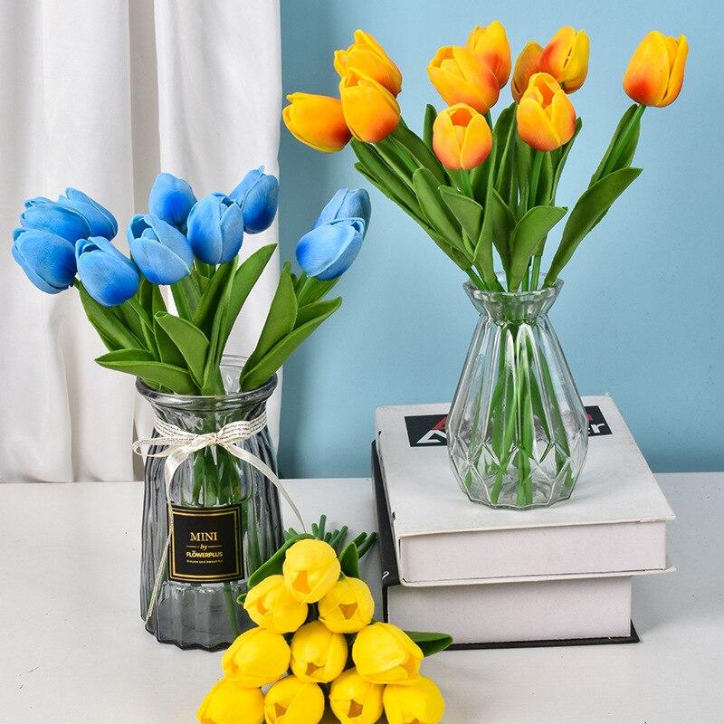 Для дома и сада 5/10 шт. тюльпан искусственный цветок Настоящее сенсорный Искусственные цветы букет Искусственный цветок для свадьбы Вечерни...