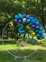 قوس دائري من الحديد المطاوع للزفاف ، 2 متر ، 2.5 متر ، حامل دائري للزينة ، إطار خلفية للمسرح ، لحفلات أعياد الميلاد ، DIY