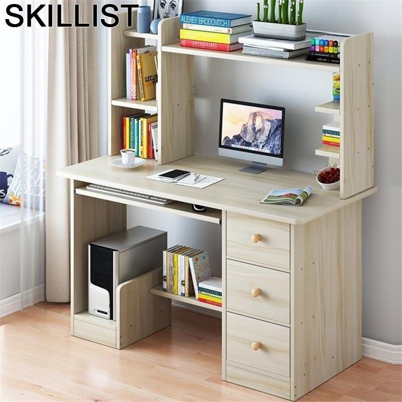 Office Furniture Escrivaninha Tavolo Escritorio De Oficina Small Tablo Laptop Stand Mesa Computer Desk Table With Bookshelf