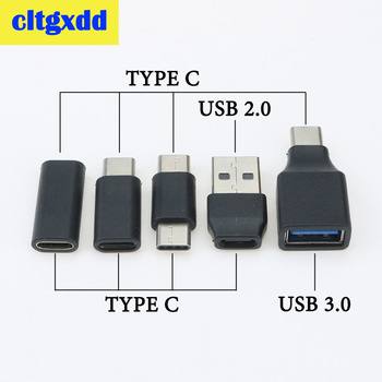 cltgxdd USB Type C Male To Female USB To Type C Female OTG Connector Adapter USB 3.0 to USB C Cable Mini Adapter Converter