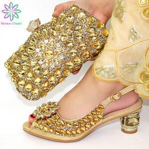 Image 4 - Neue Mode Italienische Schuhe Mit Passenden Taschen Afrikanische High Heel Frauen Schuhe und Taschen Set Für Prom Party sky blau farbe schuhe