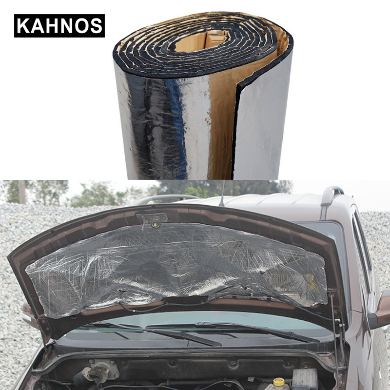 Car Truck Engine Acoust Heat Hood Pad Mat Insulation Roof Car Soundproofing Aluminum Noise Foil Deadening Sound Insulation Car