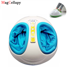 цена на Electric Foot Massager Antistress 3D Shiatsu Kneading Air Pressure Foot Massage Infrared Body Care Machine Heating & Therapy