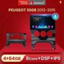 Автомагнитола Junsun V1 pro, 2 + 32 ГБ, Android 10 для PEUGEOT 3008 2013-2015, мультимедийный видеоплеер, навигация GPS, 2 din, dvd