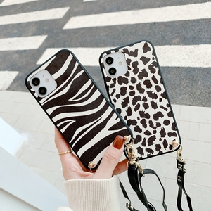 Image 2 - Fashion Luxe Leopard Telefoon Case Crossbody Ketting Koord Lanyards Touw Voor Samsung Galaxy A31 A51 A71 A70 A50 A10 E m10 Cover