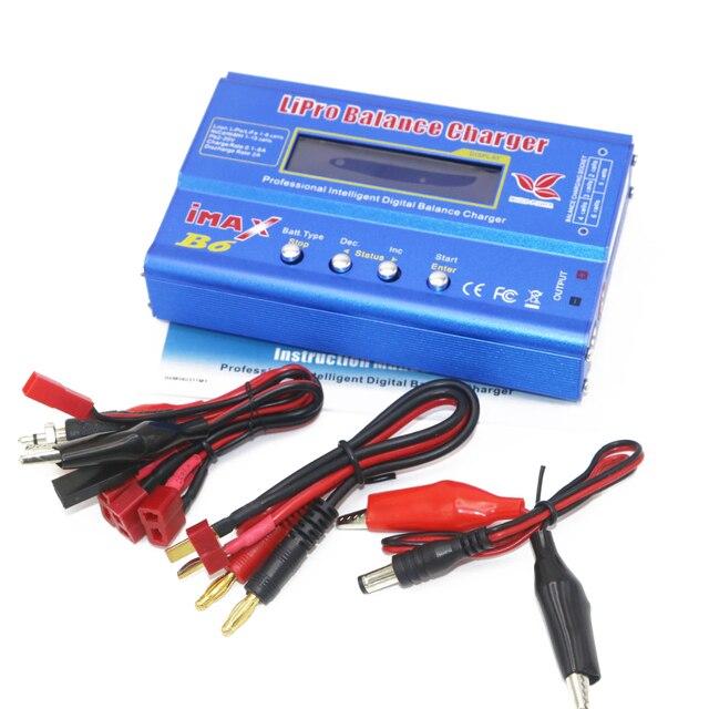 Carregador para bateria de lipo digital, 1 peça, imax b6 80w, plugue t/xt60 plug/tamiya tomada tamiya para quadricóptero rc