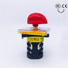 цена на Selector Cam switch 3 phases position Multi-step 25A  Changeover rotary switch big plate Reverse and forward high-speed swithing