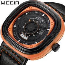 Cool MEGIR Original Watch Men Top Brand Luxury Quartz Military Watches Leather  waterproof Shock Wristwatch Clock