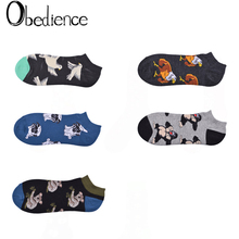 2019 New street fashion female socks Pop-Up animal astronaut cactus creative element cotton breathable women sox