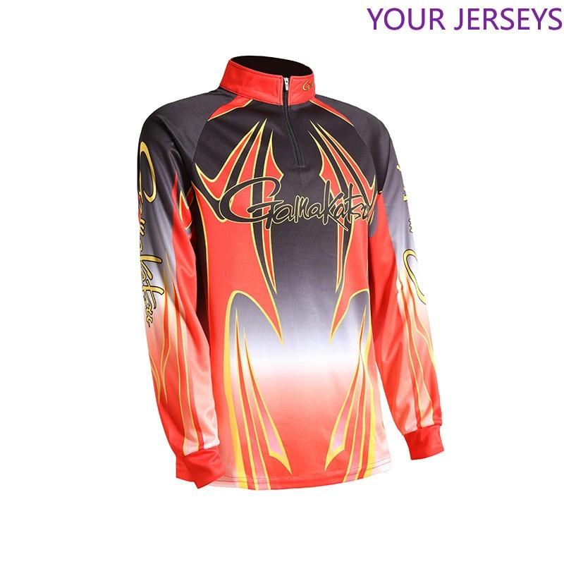 New Gamakatu Fishing Clothing Men Long Sleeve Quick Dry  Shirt Outdoor Sports FIshing Clothes Zipper DAWA  Jacket Pesca DAIWA