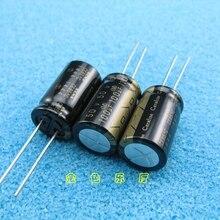 4pcs NEW ELNA ROA Cerafine 100uF/50V 12.5X20MM 50V 100UF audio electrolytic capacitor 100UF 50V Black gold 50V100UF