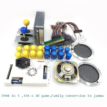 Pandora Box 3D 2448 kit DIY Arcade Kit + 33mm LED buttons + Copy SANWA Joystick Arcade Console machine Home closet package