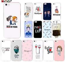 MaiYaCa Cartoon Medicine Doctor Nurse Heart Beat Custom Photo Soft Phone Case for iPhone 11 pro XS MAX 8 7 6 6S Plus X 55S SE XR(China)