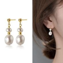 Um novo geométrico barroco pérolas, contas pingente brincos boêmio brincos jóias presente para mulher