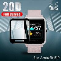 Protezione per bordi curvi 20D per xiaomi Huami Amazfit Bip S Gts accessori per proteggi schermo morbido pellicola Amazfit Bip Lite 1s 2s