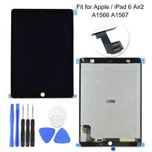 LCD Display Touch Screen Digitizer Assembly Parts for iPad 6 Air2 A1566 A1567 цены онлайн