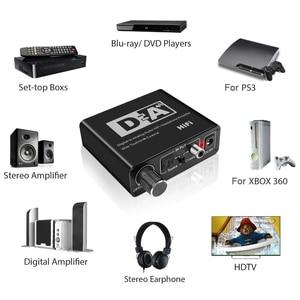 Image 3 - Caldecott DAC оптический Toslink коаксиальный двунаправленный переключатель RCA 3,5 мм разъем цифро аналоговый аудио адаптер конвертер