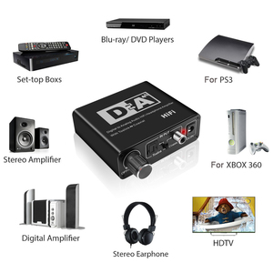 Image 3 - Caldecott Digital zu Analog Audio Adapter Konverter DAC Optische Toslink Koaxial Bi directional Schalter RCA 3,5mm Jack