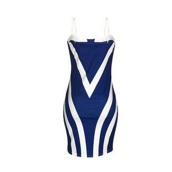 Plus Size Women Sheath Sexy Bodycon Party Summer Dress Spaghetti Strap Sleeveless Backless Patchwork Print Vestidos Robe Femme 5