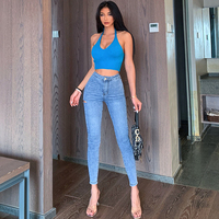 2020 New High Waist Ripped Jeans For Women Sexy Vintage Mom Boyfriend Jeans Femme Skinny Denim Pants Pencil Trousers Hot Sale