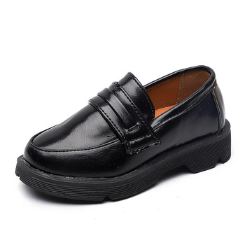 2020 nowe skórzane buty dla dzieci PU małe chłopcy dziewczęce buty czarny taniec formalne klinowe skórzane trampki brązowe skórzane buty dla dzieci tanie i dobre opinie RUBBER 13-24m 25-36m 3-6y 7-12y 12 + y CN (pochodzenie) Cztery pory roku Unisex Pasuje prawda na wymiar weź swój normalny rozmiar