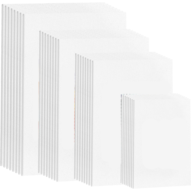 Paint Canvas Panels, Pre-Primed Art Canvases for Painting, White Cotton Canvases for Acrylic, Gouache, Tempera Paints.