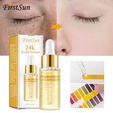 24K Gold Hyaluronic Acid Face Serum Replenishment Moisturize Shrink Pore Brighten Anti Aging Skin Care Whitening Essence