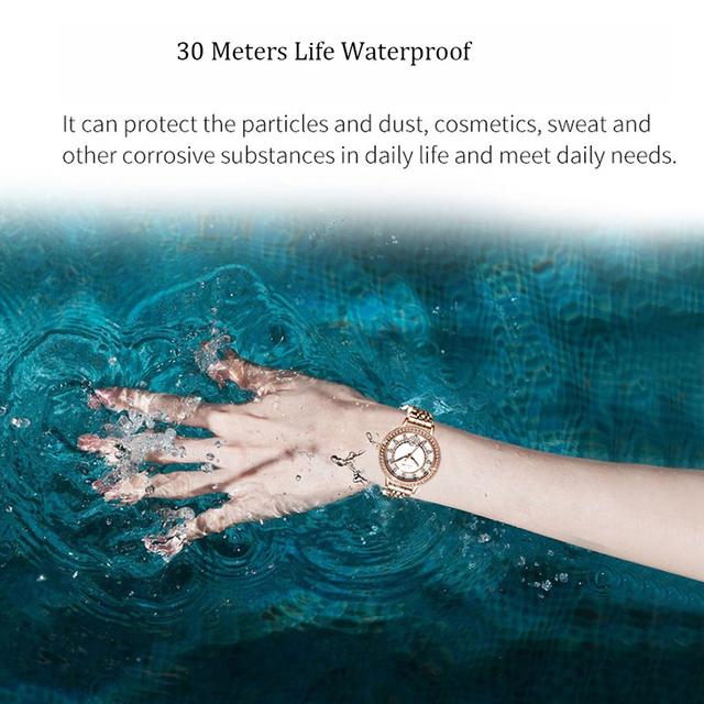 Womens Watch Stainless Steel Waterproof  Diamond Quartz