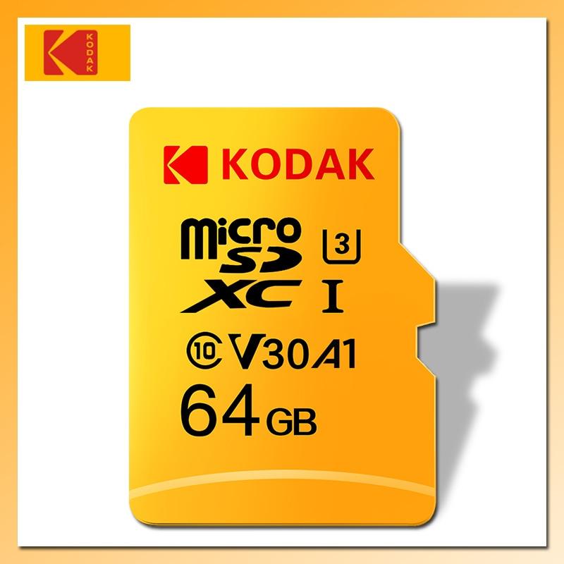 Карта памяти KODAK Micro SD, класс 10, 128 ГБ, 64 ГБ, 32 ГБ, 16 ГБ, U1, 4K, U3, 256 ГБ, 512 ГБ